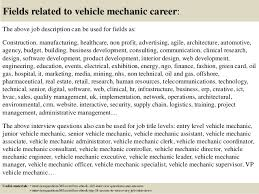 top  vehicle mechanic interview questions and answers