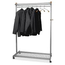 office coat hanger. Practical And Elegant Coat Rack Holds Up To 36 Hangers. Two Shelves, One Above Below The Rack, Are Perfect For Umbrellas, Bags Other Office Hanger A
