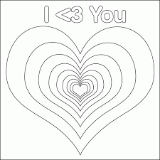 Small Picture Printable Hearts Coloring Coloring Pages