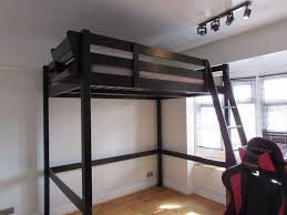 high double bed. Delighful Double Double Bed High Sleeper  STORA Loft In Black Throughout Bed T