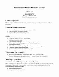 Sample Resume For Administrative Assistant Position 60 Great Resume for Office assistant Position Sierra 41
