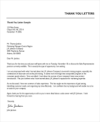 Professional Letter Format Example Gorgeous 44 Professional Thank You Letter Samples Sample Templates
