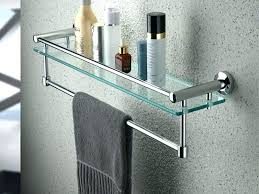 Brushed Nickel Floating Shelves Awesome Tasty Bathroom Towel Bars Stylish Bathroom Shelf With Towel Bar