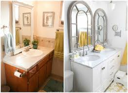 double vanity with one sink. double sink bathroom vanity before and after @remodelaholic with one o