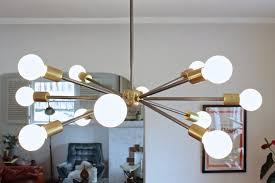 image of mid century modern sputnik chandelier