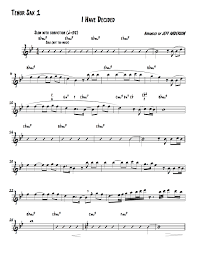 Tenor Sax Chart I Have Decided Ak Little Big Band Tenor Sax Feature
