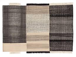 buy the nanimarquina tres rug black at nestcouk