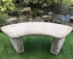 stone garden quarter circle curved