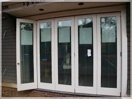 large folding glass patio doors