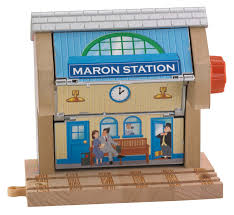 Fisher Price Wooden Railroad Maron Lights Sounds Signal Shed Thomas 3 In 1 Destination Toy Vehicle Playset 13 23 Toys