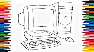 Computer Coloring Page Printable Colouring Pinterest Throughout