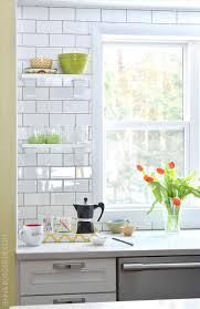 co diy subway tile backsplash kitchen open shelves renovationremodel before and after boulder co style