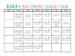 265 One Month Money Challenge Free Printable Being A