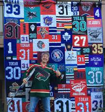 T-shirt Quilts Made Out of Sport Jerseys - Minnesota T-Shirt Quilts & Hockey Quilt Adamdwight.com
