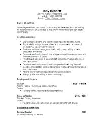 Warehouse Jobs Resume Gallery Sample Resumes For Warehouse Jobs