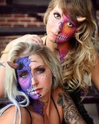 side parted demon makeup