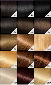 Lace Wig Hair Color Chart Full Bangs Yaki Straight Glueless Silk Top Non Lace Wig