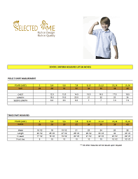 Polo Size Chart T Shirts Size Chart Men Women Boys And Girls