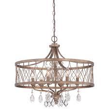 minka lavery west liberty 6 light olympus gold chandelier