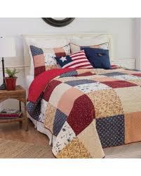 Amazing Deal on Enterprises Liberty Quilt Set (3 Piece - King ... & Enterprises Liberty Quilt Set (3 Piece - King), Red (Cotton, Patchwork Adamdwight.com