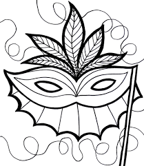 Mardi Gras Mask Coloring Pages For