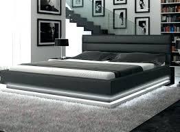 Low Profile Queen Bed Frame Varnished Wooden Low Profile Queen Bed ...
