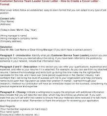Customer Service Team Leader Cover Letter 31 Nice Customer Service Team Leader Job Description For