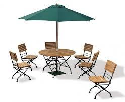bistro round 1 2m table 6 chairs teak