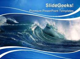 wave powerpoint templates wave beauty powerpoint template 0910 powerpoint design template