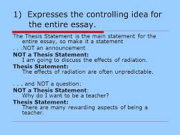 writing the essay definition from paragraph to essay ppt  1 expresses the controlling idea for the entire essay