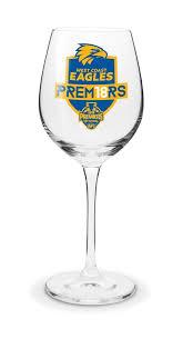 west coast eagles 2018 afl premiers 500ml wine glass