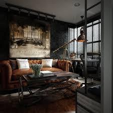 Three Dark Colored Loft Apartments With Exposed Brick Walls - Loft apartment brick