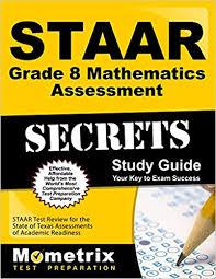 Staar Reference Chart 8th Grade Math Amazon Com Staar Grade 8 Mathematics Assessment Secrets