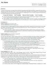 School Counselor Resume Examples School Counselor Resumes Innovation