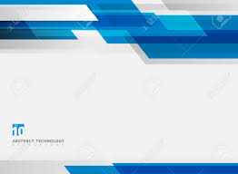 Blue Footer Design Abstract Technology Geometric Blue Color Shiny Motion Background
