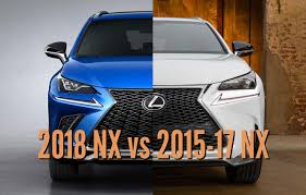 2018 lexus nx 200t f sport. contemporary 2018 2018 lexus nx vs 201517 facelift differences in photo comparison   between the axles in lexus nx 200t f sport