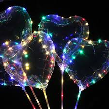 String Light Balloon 2019 18 Led Light Up Balloons Star Heart Shaped Clear Bobo Balloons With Led String Lights For Birthday Wedding Party Decor Sh190913 From Hai06
