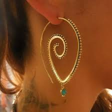 Hoop Spiral Earrings <b>NZ</b>