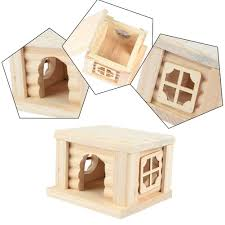 lovely hamsters cages flat topped house for pet wooden chew toys for hamter guinea pigs chinchilla mascota animal