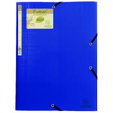 Exacompta Forever Elasticated 3 Flap Folder Blue Pack Of 15 551572e
