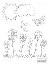 The butterfly is out to collect the flowers for her yearly spring this was our compilation of free printable spring coloring pages for you! Spring Flowers Butterflies Printable Coloring Page