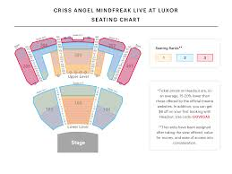 Hollywood Theater Las Vegas Seating Chart Criss Angel Seating Chart Watch Mindfreak Live At Luxor