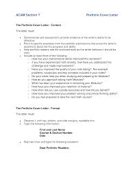 Portfolio Cover Letter Example Best Letter Sample