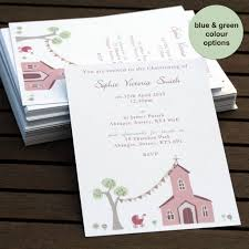 personalised christening or baptism invitations christening invitations