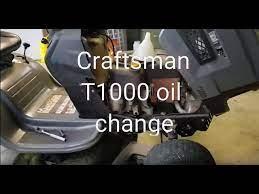 craftsman t1000 riding mower oil change