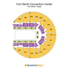 Fort Worth Convention Center Seating Chart Fort Worth Convention Center Fwcc Events And Concerts In