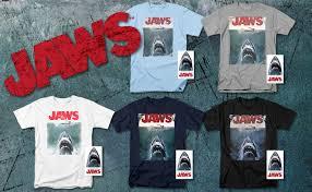 Jaws Shark Original Movie Poster T Shirt & Stickers ... - Amazon.com