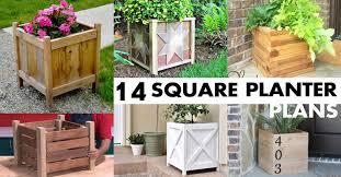 square planter box plans best for diy