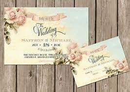 personalised shabby chic vintage floral wedding invitations packs Vintage Shabby Chic Wedding Invitations image is loading personalised shabby chic vintage floral wedding invitations packs buy vintage shabby chic wedding invitations