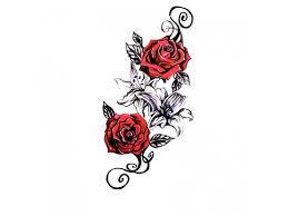 Voděodolné Dočasné Tetování Motiv Růže